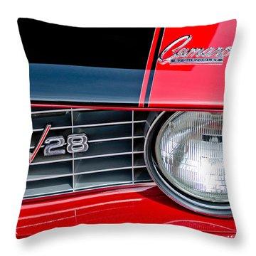 1969 Chevrolet Camaro Z 28 Grille Emblem Throw Pillow by Jill Reger