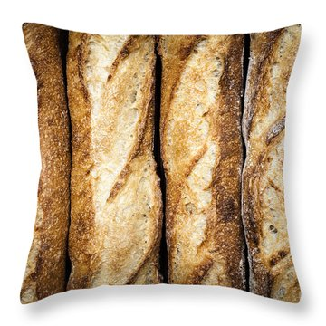 Baguettes Throw Pillow by Elena Elisseeva