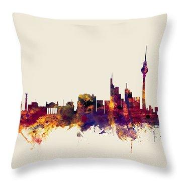 Berlin Germany Skyline Throw Pillow by Michael Tompsett