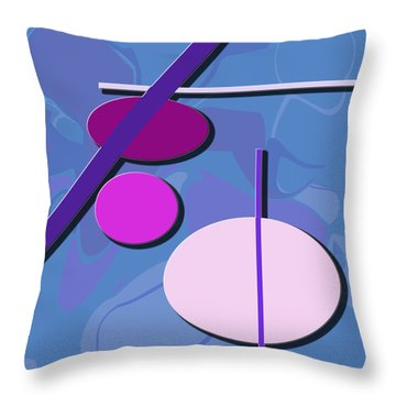3 Circle And 3 Lines 1 Throw Pillow by Kristy Jeppson