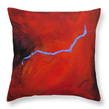Torso Fire And Ice Throw Pillow by Mary Sullivan