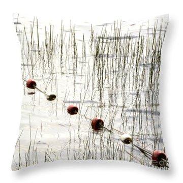 Floats Throw Pillow by Bernard Jaubert