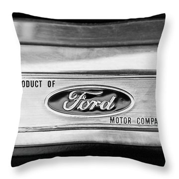 Powered By Ford Emblem -0307bw Throw Pillow by Jill Reger