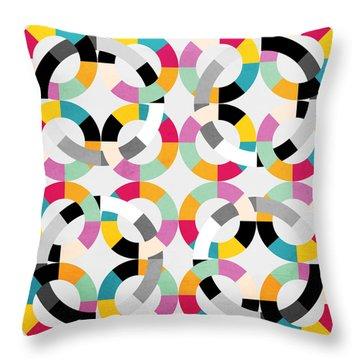 Geometric  Throw Pillow by Mark Ashkenazi