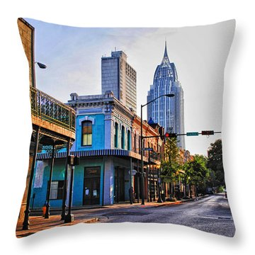 3 Georges Throw Pillow by Michael Thomas