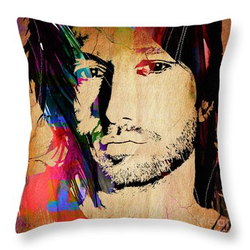 Keith Urban Collection Throw Pillow by Marvin Blaine