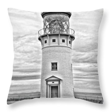 Kilauea Lighthouse Throw Pillow by Scott Pellegrin