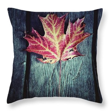 Maple Leaf Throw Pillow by Natasha Marco