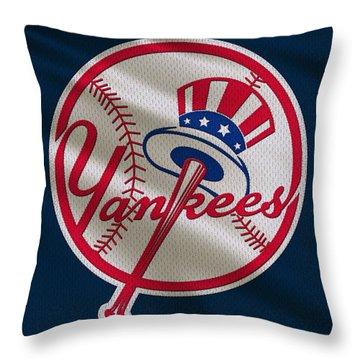 New York Yankees Uniform Throw Pillow by Joe Hamilton