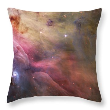 Orion Nebula Throw Pillow by Sebastian Musial