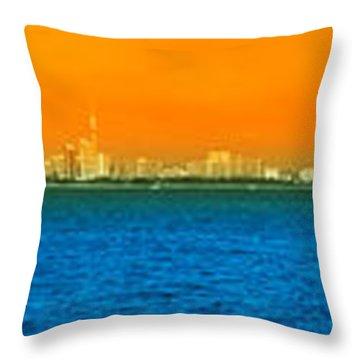 Pattaya Scenic Throw Pillow by Atiketta Sangasaeng