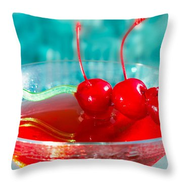 Shirley Temple Drink Throw Pillow by Iris Richardson