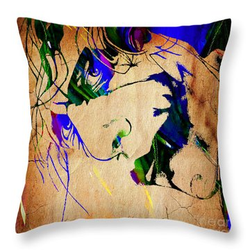 The Joker Heath Ledger Collection Throw Pillow by Marvin Blaine