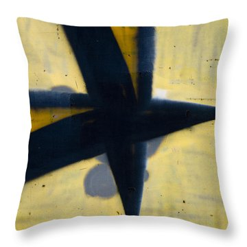 Train Art Abstract Throw Pillow by Carol Leigh