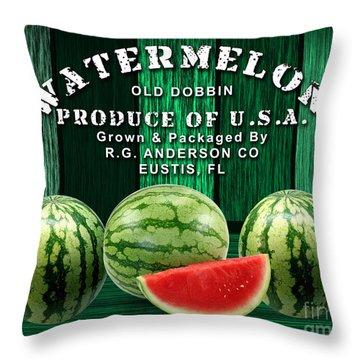 Watermelon Farm Throw Pillow by Marvin Blaine