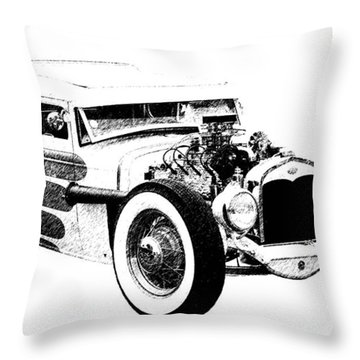 31 Model A Throw Pillow by Guy Whiteley