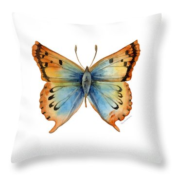 33 Opal Copper Butterfly Throw Pillow by Amy Kirkpatrick