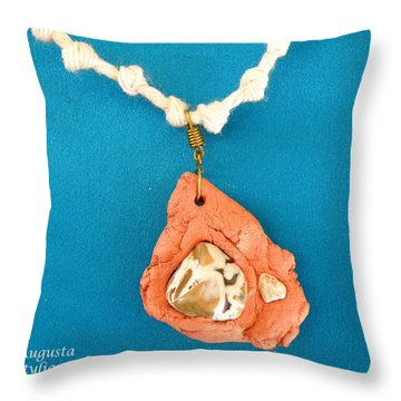 Aphrodite Gamelioi Necklace Throw Pillow by Augusta Stylianou
