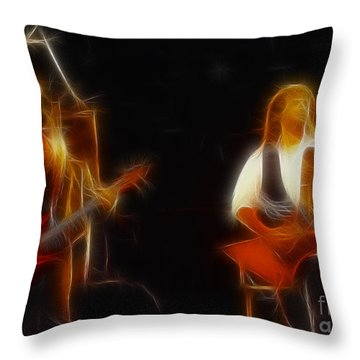 38 Special-94-larry N Jeff-gb20a-fractal Throw Pillow by Gary Gingrich Galleries
