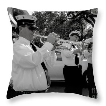 3rd Line Brass Band Second Line Throw Pillow by Renee Barnes