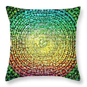 Abstract Dot Throw Pillow by Atiketta Sangasaeng