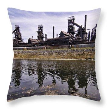 Bethlehem Steel Throw Pillow by Michael Dorn