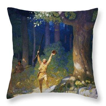 Cooper: Deerslayer, 1925 Throw Pillow by Granger