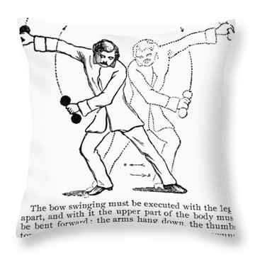 Exercise, 19th Century Throw Pillow by Granger