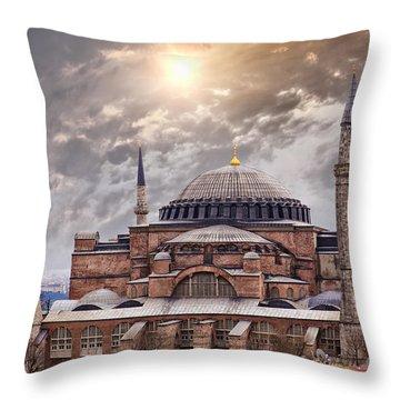Hagia Sophia Istanbul Throw Pillow by Sophie McAulay