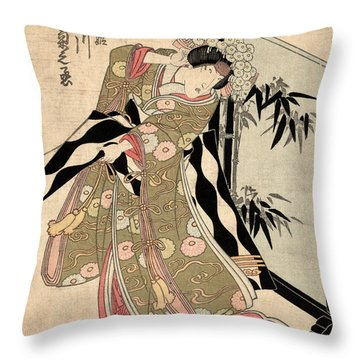 Japan: Tale Of Genji Throw Pillow by Granger