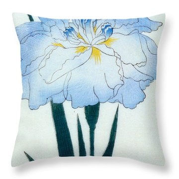 Japanese Flower  Throw Pillow by Japanese School