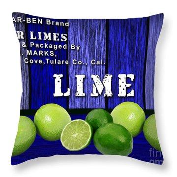 Lime Farm Throw Pillow by Marvin Blaine