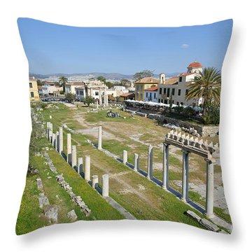 Roman Market Throw Pillow by George Atsametakis