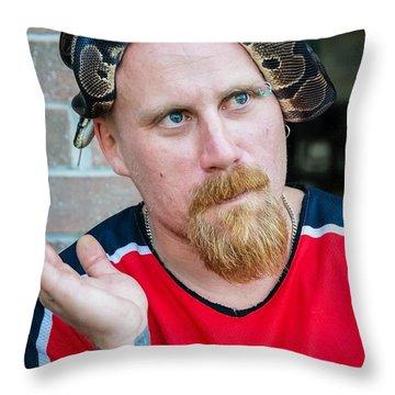 Teammates Throw Pillow by Steve Harrington