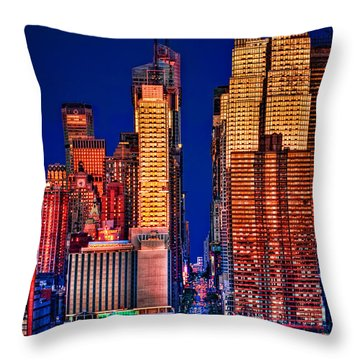 42nd Street Throw Pillow by Susan Candelario