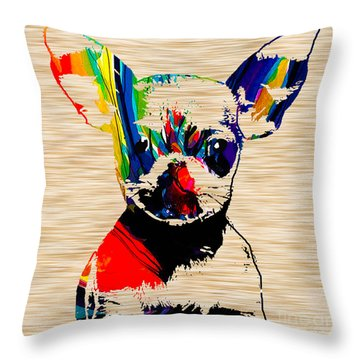 Chihuahua Throw Pillow by Marvin Blaine