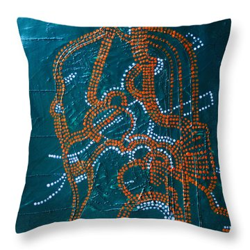 Dinka - South Sudan Throw Pillow by Gloria Ssali