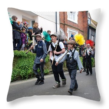 Jack In The Green Festival Hastings Throw Pillow by David Fowler