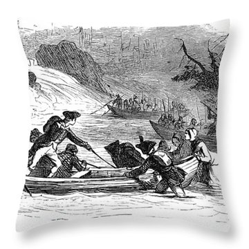 Quebec Expedition, 1775 Throw Pillow by Granger
