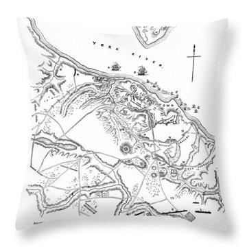 Siege Of Yorktown, 1781 Throw Pillow by Granger