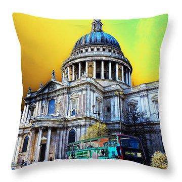 St Pauls Cathedral London Art Throw Pillow by David Pyatt