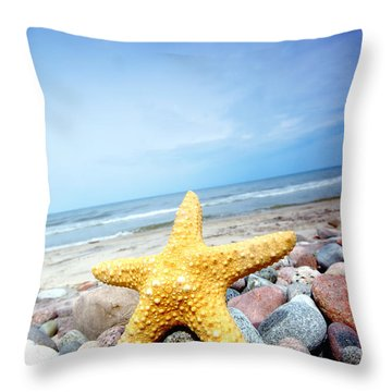 Starfish Throw Pillow by Michal Bednarek