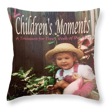 52 Children's Moments - Book Cover Throw Pillow by Eloise Schneider