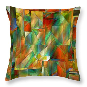 53 Doors Throw Pillow by RC deWinter
