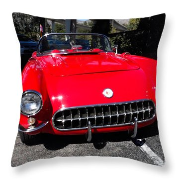 57 Chevy Throw Pillow by Nina Prommer
