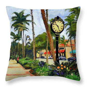5th Avenue Naples Florida Throw Pillow by Christine Hopkins