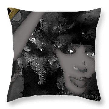 Empires Naomi Campbell Camilla Throw Pillow by Marvin Blaine
