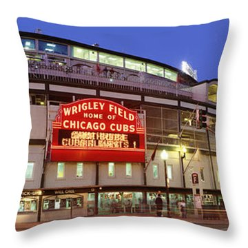 Usa, Illinois, Chicago, Cubs, Baseball Throw Pillow by Panoramic Images