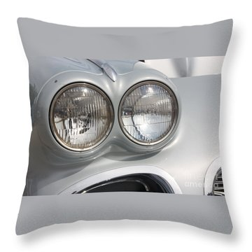 61 Corvette-grey-headlights-9235 Throw Pillow by Gary Gingrich Galleries