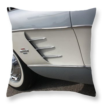 61 Corvette-grey-sidepanel-9241 Throw Pillow by Gary Gingrich Galleries
